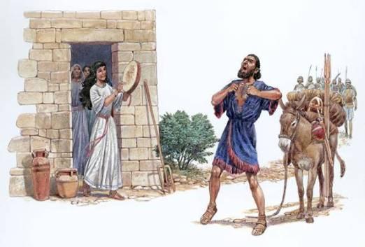 Bilderesultat for jephthah's vow